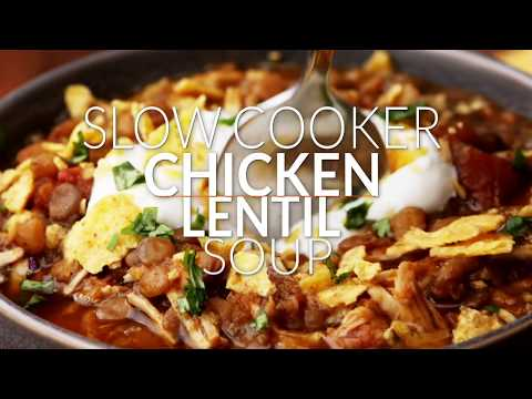 Slow Oven Chicken and Lentil Chili