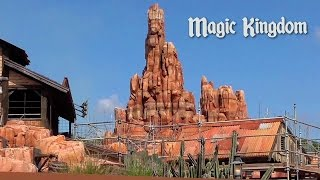Magic Kingdom Update: Tomorrowland's New Rocks, Big Thunder Mountain Closed and Construction