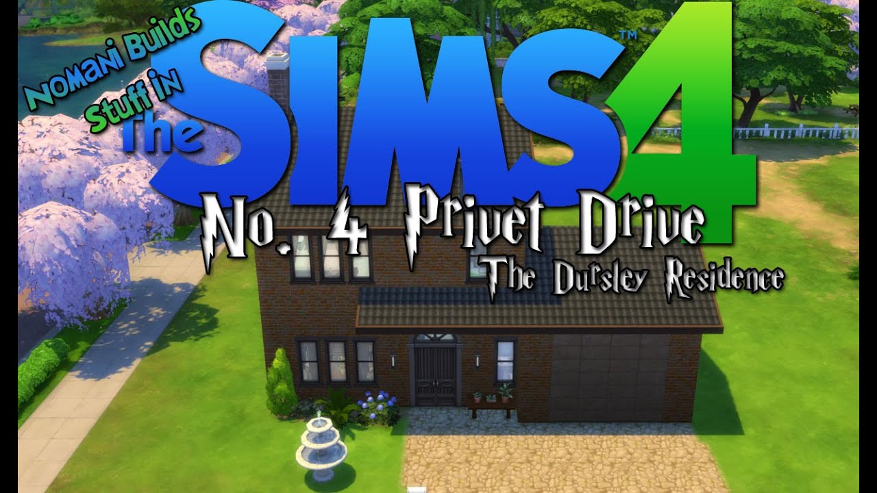 Number 4 Privet Drive The Dursley Residence The Sims 4