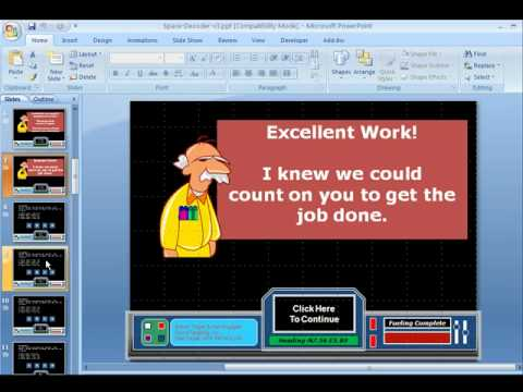 PowerPoint Games - Space Decoder - YouTube