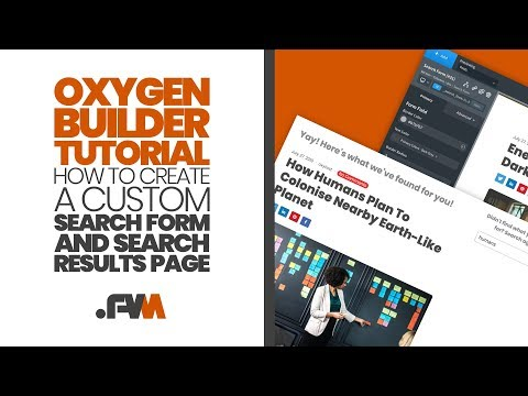 Oxygen Builder Custom Search Form And Search Results Template Design Tutorial