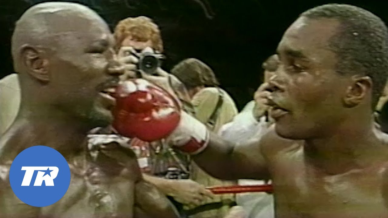 Marvin Hagler vs Sugar Ray Leonard 1 | ON THIS DAY FREE FIGHT