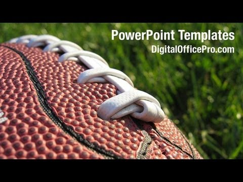 American Football PowerPoint Template Backgrounds - DigitalOfficePro - football powerpoint template