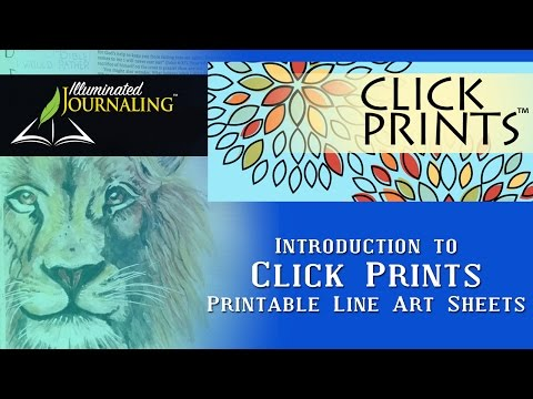 Bible Journaling: Introduction to Click Prints