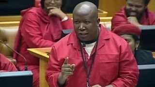 Malema And EFF Takes On Zuma In Parliament. Pay Back The Money. HD