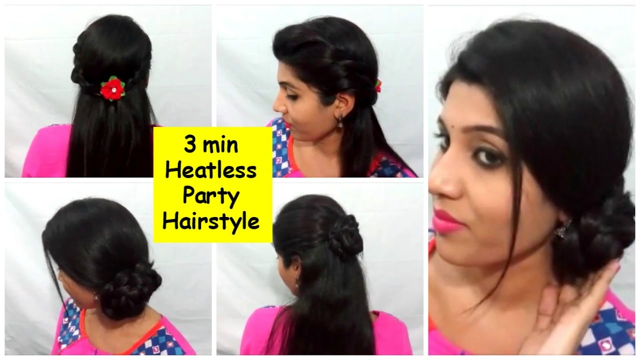 quick short hair styles 3 amp easy indian heatless hairstyles i no 3229 | maxresdefault
