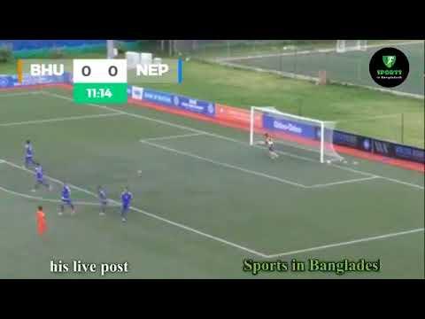 SAFF U18 Napel vs Bhutan live