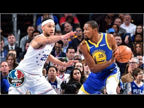 Kevin Durant leads Warriors with 34 points in win vs. 76ers | NBA Highlights