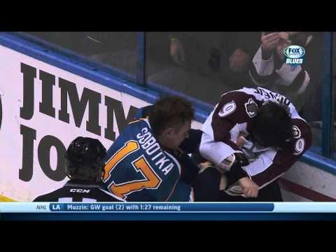 Vladimir Sobotka vs Matt Duchene fight Colorado Avalanche vs St. Louis Blues 11/14/13 NHL Hockey.