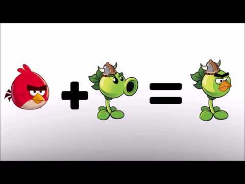 Angry birds + plants vs zombies- Bowser12345