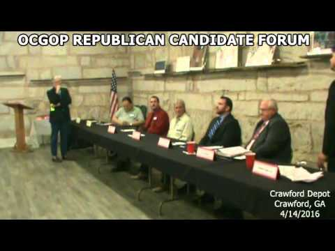 2016 Oglethorpe County Republican Sheriff Candidates Forum Part 2