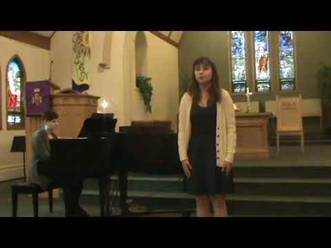 Rachel singing in the 2017 Winnipeg Music Festival - sacred