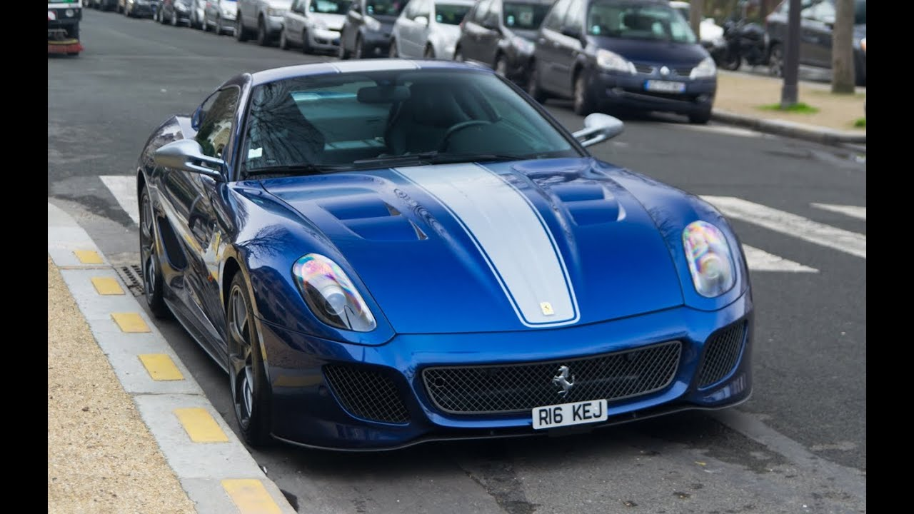 ferrari 599 gto blue tdf details and start up youtube. Black Bedroom Furniture Sets. Home Design Ideas