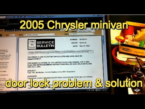 2005 Dodge Grand Caravan power door lock problem service bulletin 08
