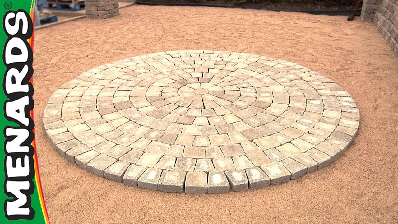 Circular patio kit how to menards youtube for Garden designs with stone circles