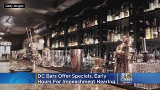 DC Bars Offer Specials, Early Hours For Impeachment Hearing
