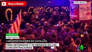 Manifestaciones en Barcelona en contra de la Detencion de Puigdemont