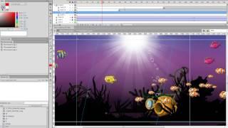 Урок  Подводный мир  Анимация рыб и черепахи