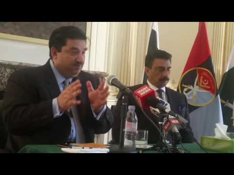 Press conference at embassy of Pakistan France With Fédéral Minister Trade Khurram Dashghir & H.E Am