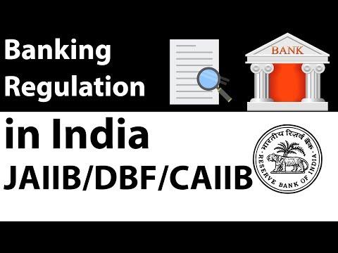 JAIIB & CAIIB DBF exam preparation - Banking regulation in India part 1 - Banking awareness