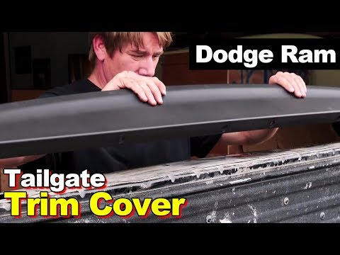 2009-2016 Dodge Ram Pickup Tailgate Molding Cover