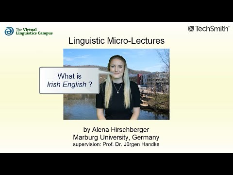 Linguistic Micro-Lectures: Irish English