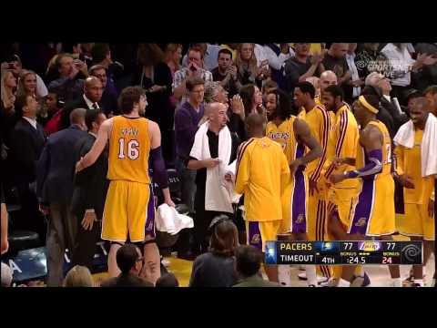 11 27 2012   Pacers vs  Lakers   Kobe Bryant Game Tying Three Pointer