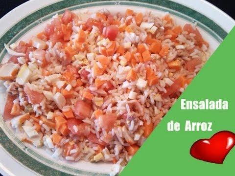 Ensalada de arroz receta de cocina ensaladas faciles youtube - Ensalada de arroz light ...