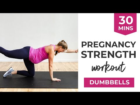 Advanced Pregnancy Workout: 30-Minute Full Body Pregnancy Strength | Safe for ALL Trimesters