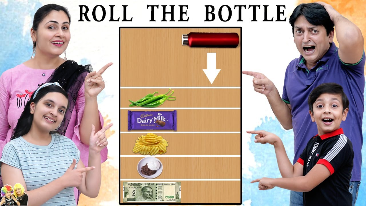 ROLL THE BOTTLE CHALLENGE | Comedy Family challenge | Aayu and Pihu Show