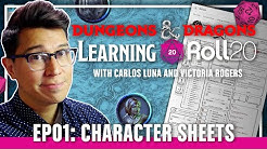 Learning Roll20 Ep. 1 - Character Sheets