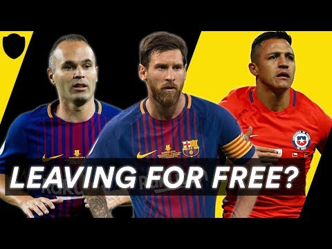 PLAYERS OUT OF CONTRACT IN 2018 XI | LIONEL MESSI, ALEXIS SANCHEZ & ANDRES INIESTA