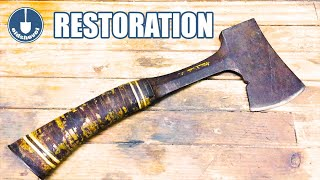 AXE RESTORATION - Estwing Hatchet Restored using a Cashmere Scarf!