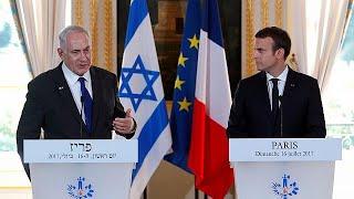 Macron defende necessidade de reatar as negociações israelo-palestinianas com vista a solução de…
