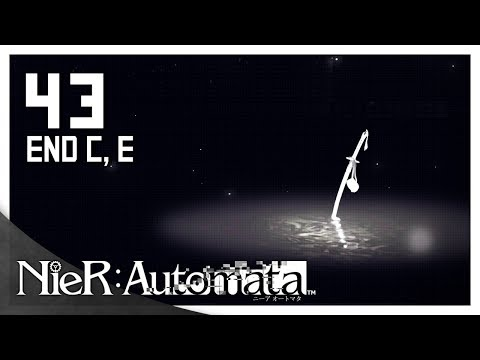 Let's Play NieR: Automata Blind Part 43 Ending C & E - The Very, Very End [NieR 2017 PC Gameplay]