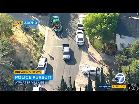 """Police Pursuit: Glendale, CA 7-6-17    """"Medical Results in Police Chase"""""""