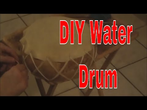 How To Make A Native American Ocean Water Drum W/ Stone Age Music - DIY Instrument  Sounds Of Waves