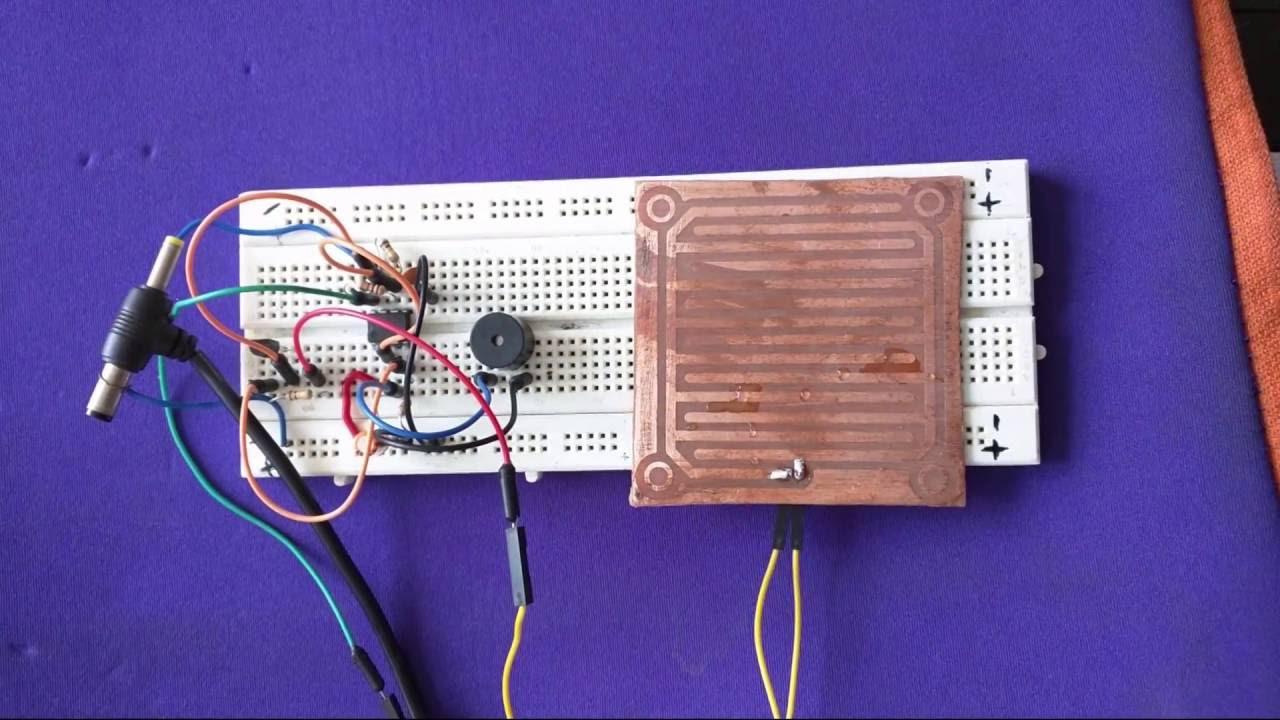 rain alarm using 555 timer hobby circuit youtubeRain Alarm Using Ne555 #20