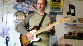 "Jimi Hendrix Red House Blues Guitar Improv By Joey Vaughan ""world Blues Attack"" Telecaster"