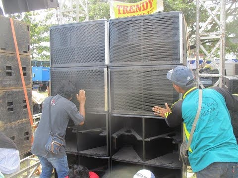 DEMO LINE ARRAY ATV TRENDY WONOGIRI HORREEG DI SYAWALAN KOMUNITAS SOUND SYSTEM JOGJA 2018