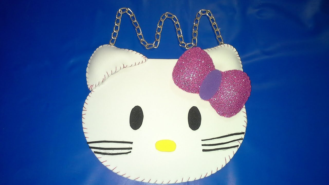 Como hacer una Bolsita o Cartera de Hello Kitty - YouTube