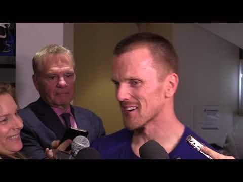 Full interview: Daniel Sedin media scrum after final  home game