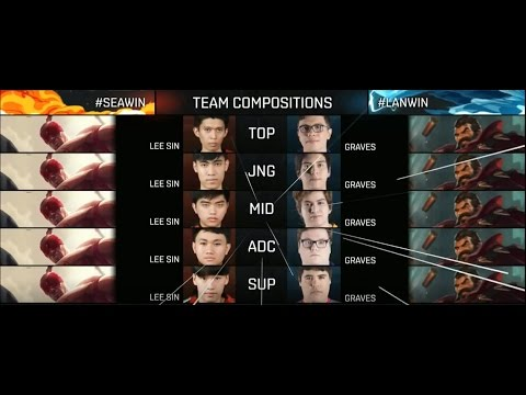 Việt Nam vs Bắc Mỹ Latin (5 Lee Sin vs 5 Graves) - Allstar Wildcard  3-12-2016