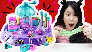 รีวิว เครื่องทำสไลม์ ~ ของเล่นสุดฮิต!! ทำง่ายมากเว่อร์ ♡ | Slime Factory