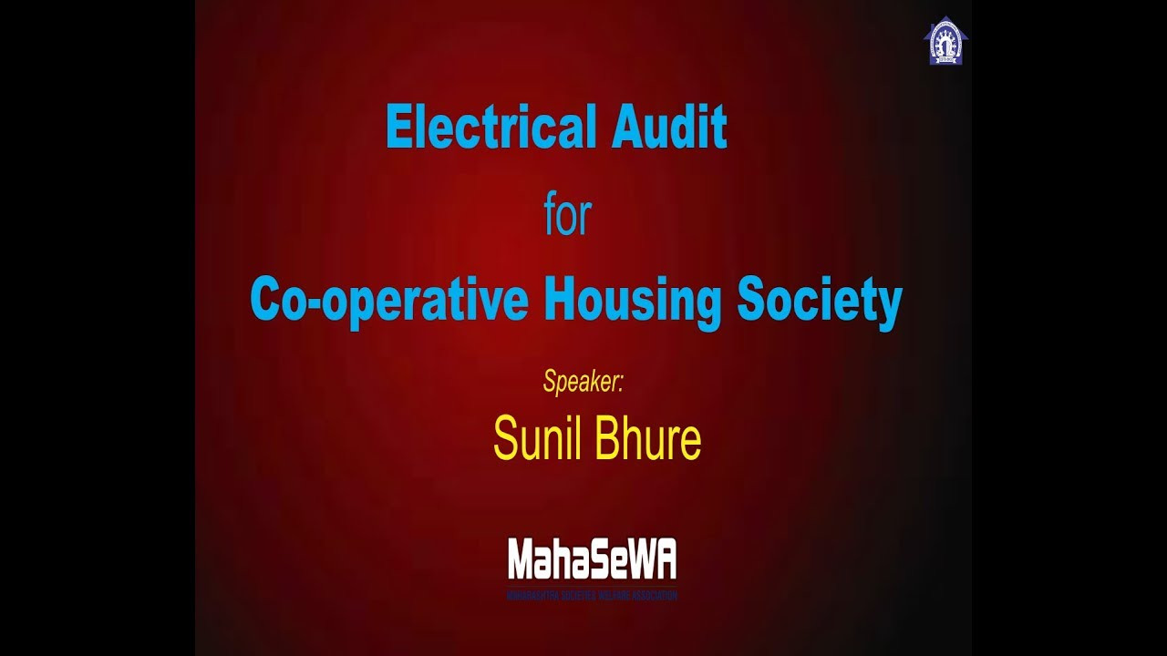 Electrical Audit for Co-operative Housing Society (Marathi)