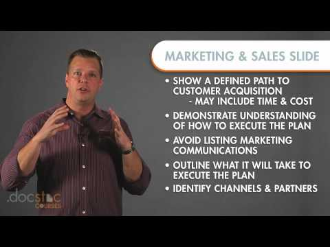 Marketing & Sales Slide - Creating The Killer Business Plan