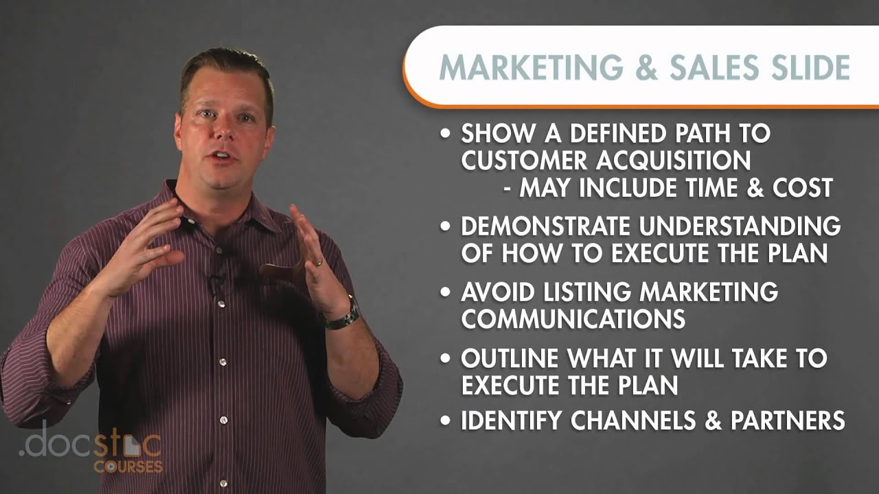 Marketing and sales business plan