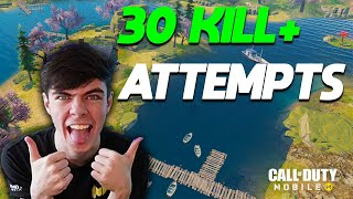 30+ KILLS CHALLENGE!! BATTLE ROYALE  Ex Professional tries COD Mobile...