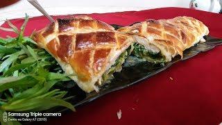 Пирог с грудкой и шпинатом Ани кухня
