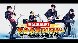 緊急生配信!あけおめDISH// 元日から重大発表SP